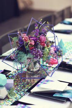 Unique centerpiece for wedding Galaxy Wedding, Purple Wedding, Floral Wedding, Wedding Colors, Wedding Flowers, Wedding Themes, Wedding Designs, Wedding Blog, Fall Wedding