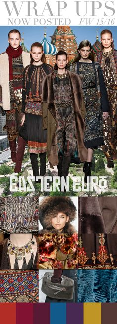 Trend Council:  Wrap Ups - FW 15/16, Eastern Euro