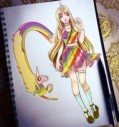 #Repost @lord_gris  Please note: I do know lady rainicorn is supposed to be korean. I really did reference a Korean face and body type for this.  I'm almost done with this adventure time series! I just have Fiona to do. It's been crazy though I've gotten so many requests for doing other fandoms I don't know where to start. Probably su or overwatch?  #ladyrainicorn #rainbow #unicorn #adventuretime #cartoonnetwork  #lgbt #dibujo #portrait #sketchbook #sketch #draweveryday #kawaii #anime…