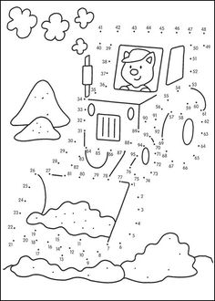 Dot to dot worksheets for your Kids. Here new dot to dot worksheets for kids. Connect points from 1 to 10 and pai. Coloring Sheets, Coloring Books, Coloring Pages, Preschool Worksheets, Preschool Activities, Dot To Dot Printables, Color By Numbers, Hidden Pictures, Connect The Dots