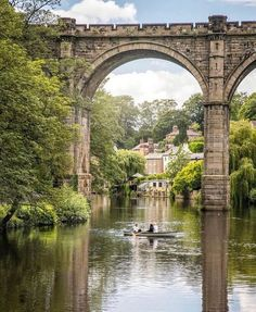 """InstaBritain on Instagram: """"The Knaresborough Viaduct is viaduct in the North Yorkshire town of Knaresborough, England - carrying the Harrogate railway line over the…"""" Yorkshire Towns, Yorkshire England, North Yorkshire, Places To Travel, Places To See, British Architecture, English Countryside, Lake District, Staycation"""