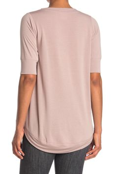 FreeLoader Lightweight Elbow Sleeve T-Shirt, Size XL - Dusty Mauve at Nordstrom Rack