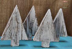 ręcznie wykonane choinki drewniane, przecierane, shabby, hand made, rękodzieło Ad Home, Shabby, Christmas, Xmas, Navidad, Noel, Natal, Kerst