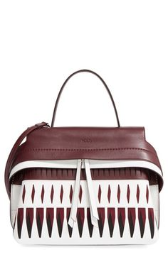 be9a7641a4 TOD S  Small Wave  Laser Cut Leather Satchel.  tods  bags  shoulder