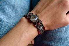 Bracelet en macramé quartz bijoux en macramé par EarthCraftHandmade