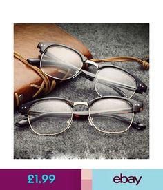 7ed24119123 Sunglasses  amp  Eyewear Fashion Mens Womens Vintage Clear Glasses Frame  Classic Half Rim Cat Eye