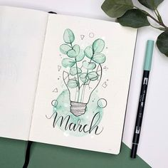 Bullet Journal March Cover Pages You'll Want to Steal! March Bullet Journal, Bullet Journal Cover Ideas, Bullet Journal Notebook, Bullet Journal School, Bullet Journal Spread, Bullet Journal Ideas Pages, Bullet Journal Layout, Journal Covers, Bullet Journal Inspiration