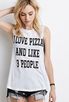 I Love Pizza Muscle Tee | Forever 21 - 2000154259