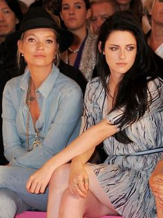 London Fashion Week Front Row - Kate Moss and Kristen Stewart at Mulberry