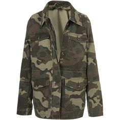 Camo Fur-Lined Jacket ($150) ❤ liked on Polyvore