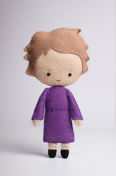 Mrs Hudson - poseable plush from Sherlock - handmade doll