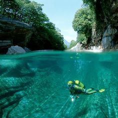 Place I'd rather be at...   Verzasca River @ Swiss Alps