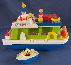 Little People Houseboat....best bath time toy ever!! followed closely by the weebles submarine..
