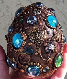 Large Mosaic Dragon Egg by Artist Christina A Kapono