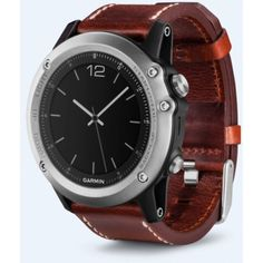 Garmin Unisex Fenix 3 Sapphire Silver Leather Gps Watch