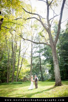 Lehigh Valley Wedding Photography, Allentown, PA, Wesley Works Entertainment & Photography, Bride and Groom, Nature Wedding Photo, Outdoor Wedding Photo, Wedding Dress