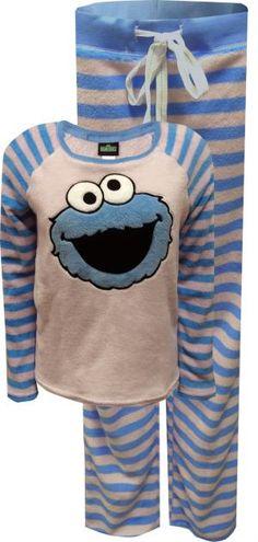 WebUndies.com Cookie Monster Super Soft Plush Pajama