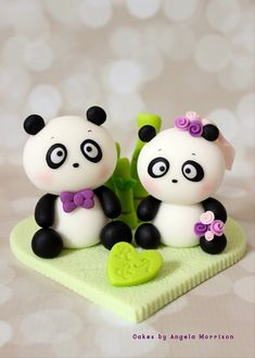 The topper is about 4 1/2 wide and 3 1/2 in height. The pandas ( bride and groom ) are sitting on a heart base and decorated with bamboo around.