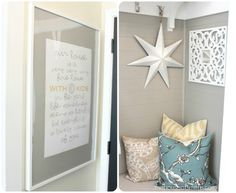paint: Wood Smoke by Glidden {such a pretty, warm grey with brown undertones} in House of Smiths' entryway closet makeover gonna paint baby room this! Entryway Closet, Closet Nook, Hall Closet, Entryway Ideas, Mudroom, Glidden Paint Colors, Home Interior, Interior Design, Home Design