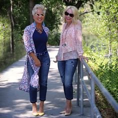 National Girlfriend Day With Chicos - Chic Over 50 - - I LOVE that there is an actual National Girlfriend Day….and me and my girlfriend, Trina, celebrated in Chicos fashion! Over 60 Fashion, Over 50 Womens Fashion, 50 Fashion, Fashion Tips For Women, Fashion Outfits, Work Fashion, Fashion Brands, Latest Fashion, Winter Fashion