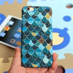 """Luminous Fish Scale Design iPhone Case  Designed for iPhone 5/5s,iPhone 6/6s(4.7"""") and iPhone 6/6s plus(5.5"""") Protects your phone from scratches and damage. Made of plastic,vivid full printing. Luminous design,much fun in dark. Skin feeling treatment both on the surface and inside.  Find more unique phone cases please visit our FANCYshop."""