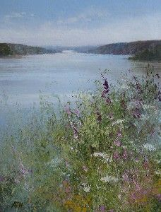 Wild Flowers Growing by the Fowey Estuary Amanda Hoskin   Mid cornwall Galleries