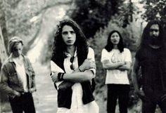 •July, 1989• Photo from SPEX Magazine. #chriscornell #soundgarden #mattcameron #kimthayil #hiroyamamoto #1989 #louderthanlove