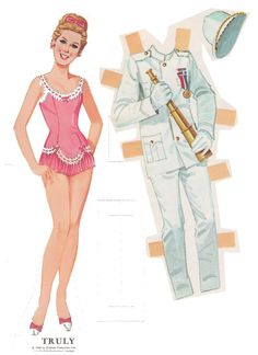 Paperdolls for Chitty Chitty Bang Bang - I really like the juxtaposition on this page.  It would be a great outfit for her!