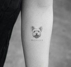Tattoos of dogs, little tattoos, animal tattoos, mini tattoos, small ta Mini Tattoos, Small Dog Tattoos, Little Tattoos, Body Art Tattoos, New Tattoos, Sleeve Tattoos, Tattoos Skull, Tatoo Dog, Cat Tattoo