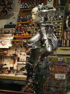 Garage steampunk mannequin