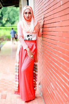 Hijab <3 <3 Out Fit <3 <3 Great look for this spring :)