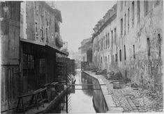La rivière Bièvre dans le 13e arrondissement de paris en 1865 photo de Marville