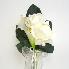 pin or mothers corsages rose and calla | Rose and Calla Lily Corsage by Timeless Wedding Impressions