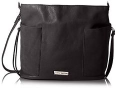 Women's Shoulder Bags - Steve Madden Womens Kott Crossbody Hobo Black ** More info could be found at the image url.
