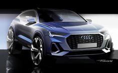 Audi Sportback: the design - Car Body Design Car Design Sketch, Car Sketch, Design Cars, Automotive Engineering, Automotive Design, Drag Racing, Dirt Track Racing, Car Drawings, Awesome Drawings