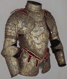 Armadura Italiana del Siglo XVl en oro y plata