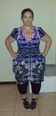 Another one of the zip front tunics that I have gotten from City Chic.