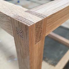 """Detail of joinery on a custom coffee table I'm working on. ______________ #oak #custom #joinery #handmade #bespoke #furnituredesign #blah"""