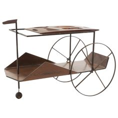 Tea Trolley by L'atelier | From a unique collection of antique and modern card tables and tea tables at https://www.1stdibs.com/furniture/tables/card-tables-tea-tables/