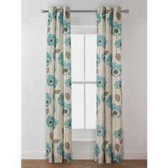 Elissia Poppy Unlined Eyelet Curtain - 66x72in - Cream Duck.