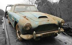 Aston Martin for sale Aston Martin Lagonda, Old Classic Cars, Abandoned Cars, Barn Finds, Antique Cars, Rust, Automobile, Cod, Vehicle