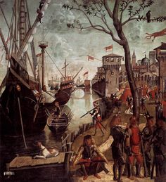 Arrival of the Pilgrims in Cologne - Vittore Carpaccio