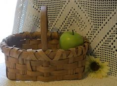 Primitive Farmhouse Handmade Split Oak Berry by Sisters2Vintage