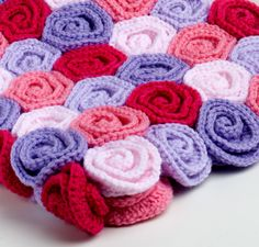 Rose Field Baby Blanket By Tanya - Purchased Crochet Pattern - (etsy) maybe just one colour, or different tones of the same colour
