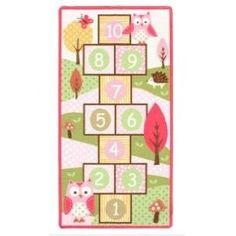 Owl Hopscotch Game Rug (Ordered! She is going to love this!)  I can't wait to put this in my daughter's new bedroom!
