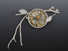 Secret Life of Jewelry - A Universe of Handcrafted Art to Wear: Enamel Flowers by Linda Darty