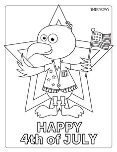 23 Printable July 4th Coloring & Activity Pages for the