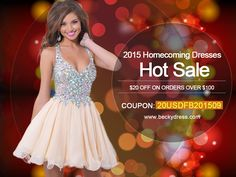 Ladies,September Dress Online Sale Starts! Here is a $20 discount coupon at  www.beckydress.com, You could use it when you place the order! $20 discount coupon:20USDFB201509