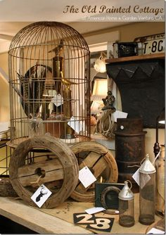 Uses for birdcage on display