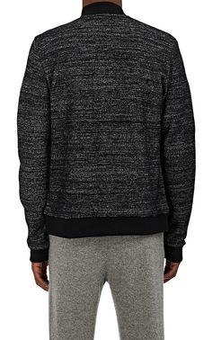 Barneys Warehouse Mélange Wool-Blend Bomber Jacket - New York XL